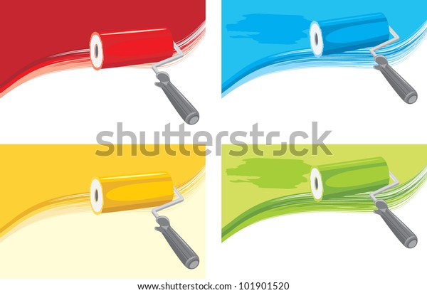roller-brushes-on-abstract-background-60