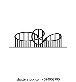 Roller coaster vector icon