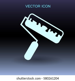 roller painting icon vector illustration