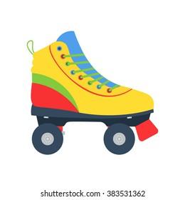 Roller skate vector illustration isolated on a white background