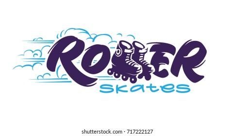 Roller skates. Logotype