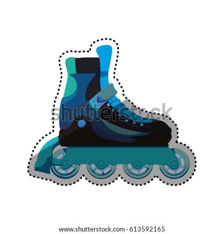 Rollers Ice Skates Sport Vector Icon Stock Vektorgrafik Lizenzfrei