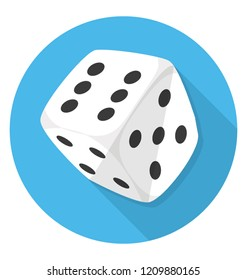 A rolling dice for playing in casino also called casino dice