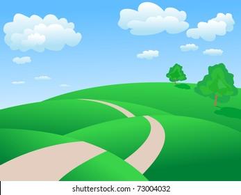 rolling hills  landscape
