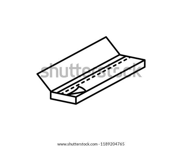 Rolling Papers Rollies Vector Black Line Stock Vector (Royalty Free