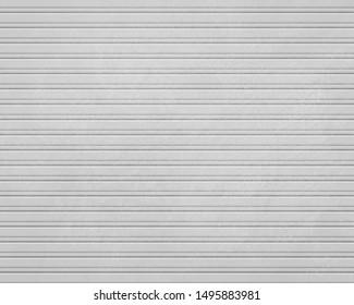 Rolling shutter door texture background. Garage steel door. Horizontal lines. vector illustration.
