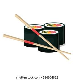 rolls suchi japanese food