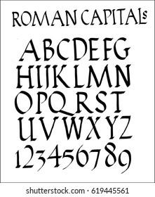 roman capitals font