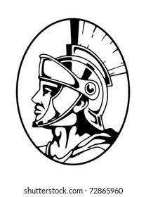 Roman Centurion - Retro Clipart Illustration