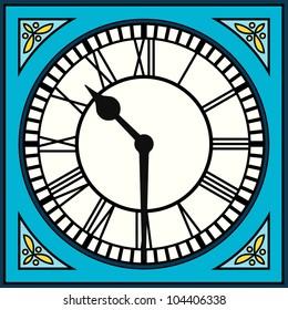Roman Clock Vector