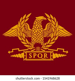 Roman eagle logo vector illustration