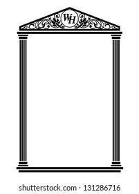Roman Frame Vector
