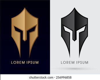 Roman or Greek Helmet , Spartan Helmet, Head protection, warrior,soldier, logo, symbol, icon, graphic, vector.