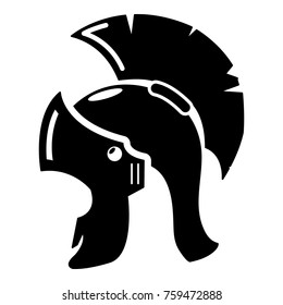 Roman helmet icon. Simple illustration of roman helmet vector icon for web
