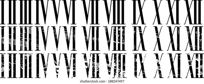 Roman Numerals Images, Stock Photos & Vectors | Shutterstock