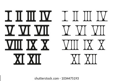 Roman numerals. Vector illustration isolated on white background