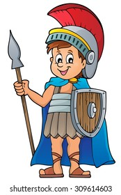 Roman soldier theme image 1 - eps10 vector illustration.