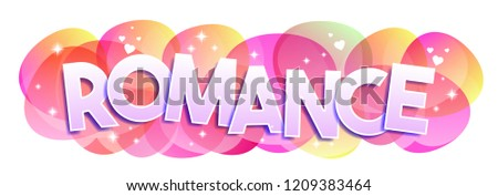 romance word vector banner stock vector royalty free 1209383464