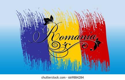 Romanian font images stock photos vectors shutterstock romania calligraphic cursive vintage romania lettering inscription with floral ornament on the brush stroke romanian m4hsunfo