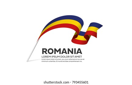 Romania flag background