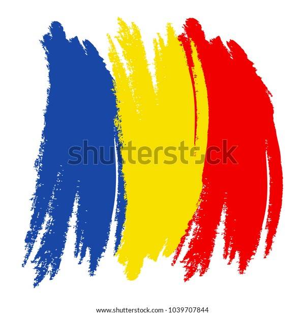 The Proud Flag of Romania! Backpack Hand Painted Brush Stroke Design of the Romanian Flag