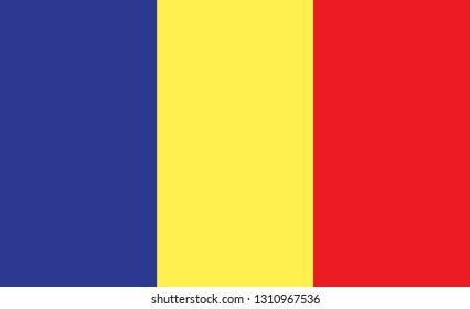 Romania flag. Simple vector Romania flag