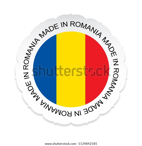 Romania Flag Vectorromania National Official Colors Stock