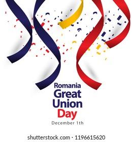 Romania Great Union Day Vector Template Design Illustration
