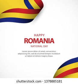 Romania independence day vector template