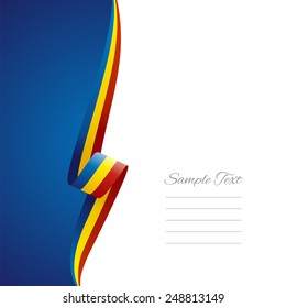 Romania left side brochure cover vector