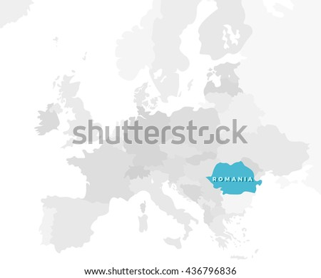 Romania Location Modern Detailed Map All Stock Vector (Royalty Free ...
