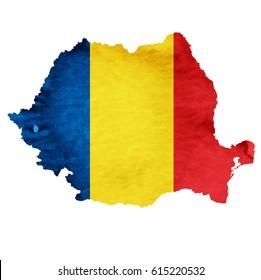 Romania Map National flag icon