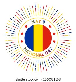 Romania national day badge. Romania's declaration of its independence. Celebrated on May 9.