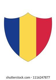 Romania Shield Flag