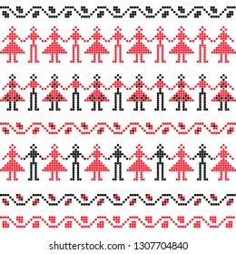 Romanian Dance Embrodery Pattern