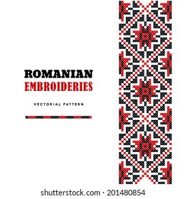 Romanian Embroideries. Vector Pattern