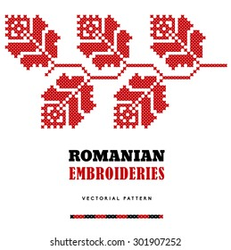 Romanian embroideries - vector pattern