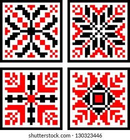 Romanian Geometrical  Folk Pattern