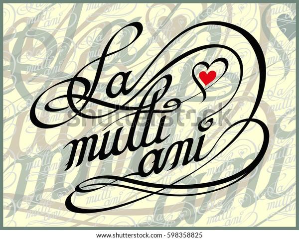 Romanian Happy Birthday Calligraphy Card