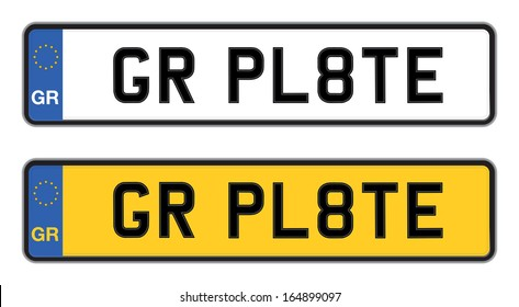 romanian number plate