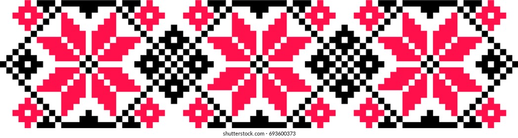 Romanian traditional motif