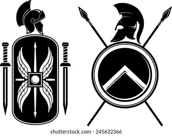 Romans and Spartan Coat of Arms