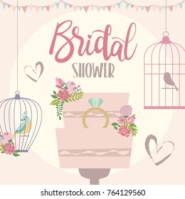 Romantic card for Save the date, Wedding invitation, Love you card and Valentines day greeting card. Vector illustration