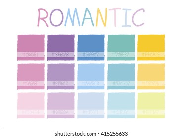 Romantic Color Tone with Code Vector Illustration