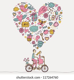 Cartoon Couple Love Images Stock Photos Vectors Shutterstock
