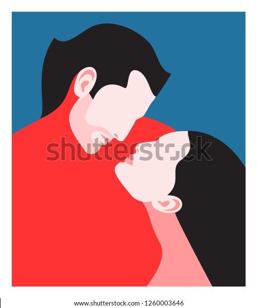Image Vectorielle De Stock De Concept Romantique Couple Amoureux