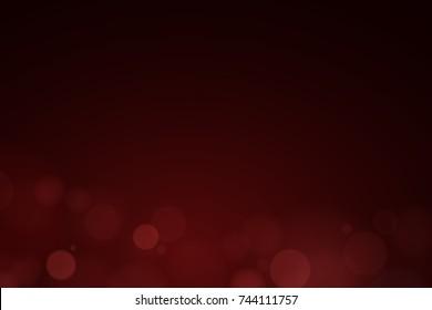 Romantic dark red background. Red shine. Glare bokeh bottom. Celebratory background. Abstract light background. Vector illustration
