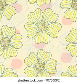 romantic flower seamless pattern