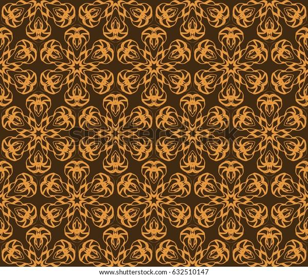 romantic geometric floral seamless pattern. Vector illustration. For modern interior design, fashion textile print, wallpaper, decor panel