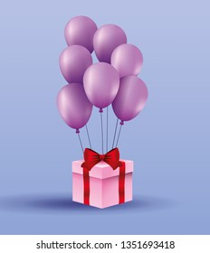 Romantic gift box present